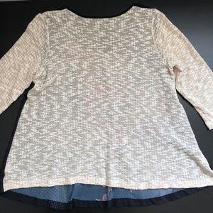 Citron Santa Monica Tops - Poeme By Citron Sheer Floral Crochet Tunic